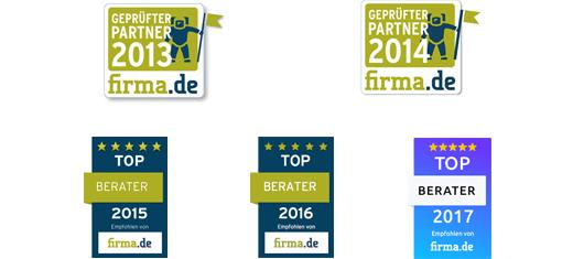Auszeichnungen von Firma.de