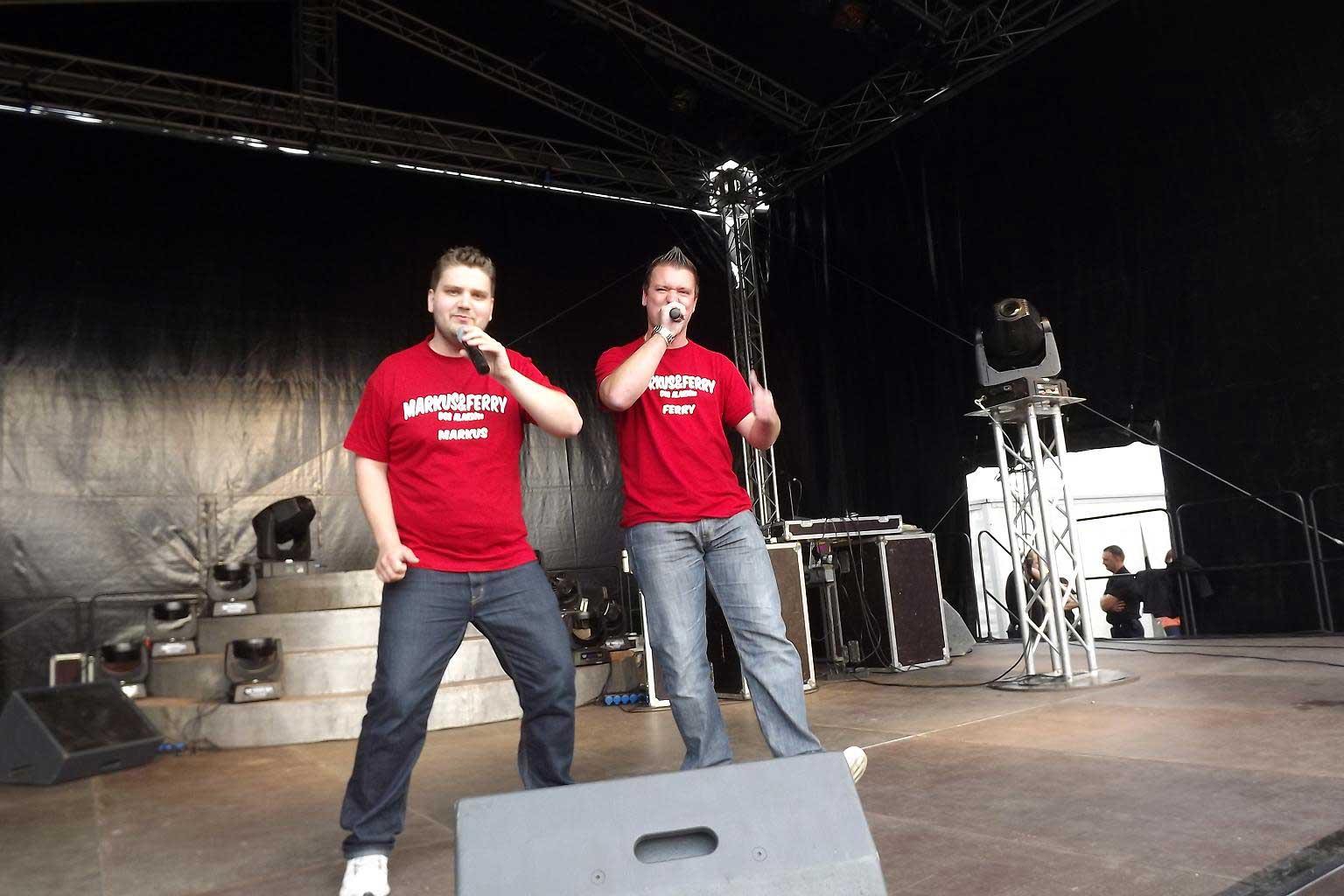 Auftritt Markus und Ferry Wertheim