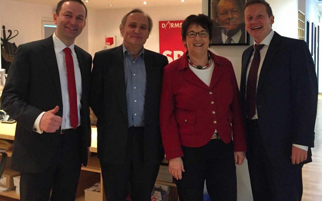 Bundesministerin Brigitte Zypries – Im Gespräch mit ULT, START-UP in Darmstadt