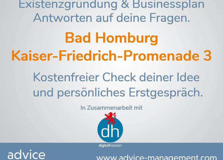 Gründer- und Startup-Beratungstage in Bad Homburg